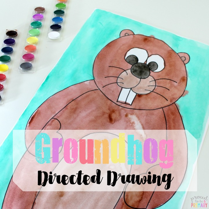 Are you searching for the perfect idea for an arts and crafts activity for Groundhog Day? This directed drawing of a groundhog provides teachers with an easy to teach lesson that Kindergarten and primary kids will love! #directeddrawing #groundhogday #artforkids #craftsforkids #teachingfreebie