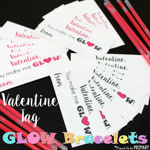 Valentine's Day Tag Glow Bracelets