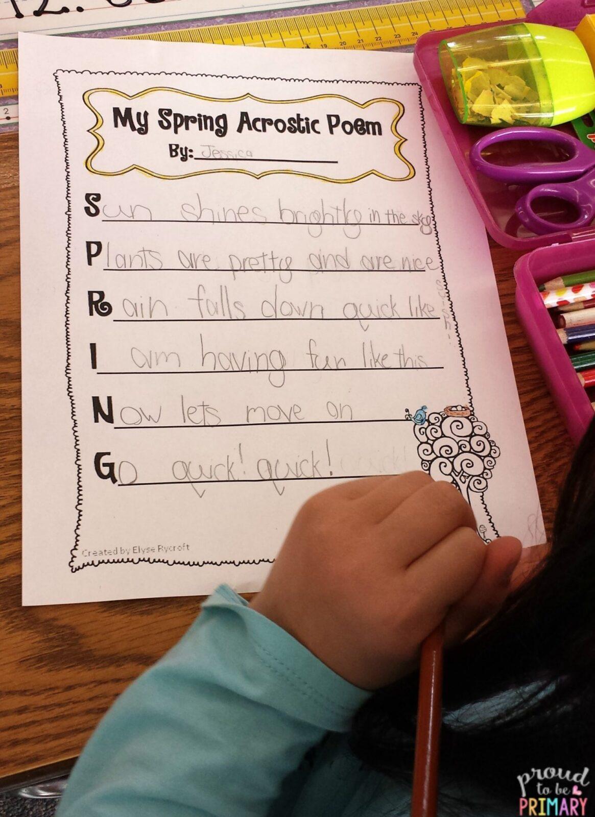 creative writing short poems