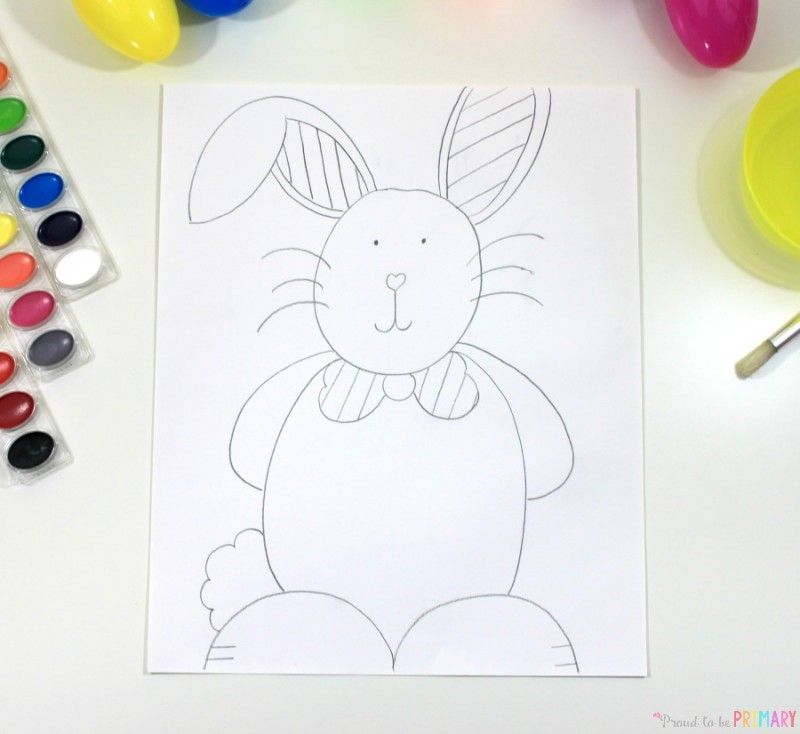 how to draw an easter bunny - drawing steps