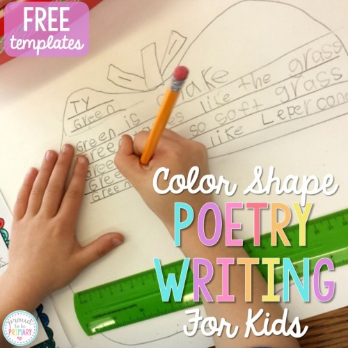 Do you need fun and engaging activities to get children writing their own poetry? April is poetry month and this color shape poetry writing lesson is the perfect lesson for teachers. It also includes FREE templates for kids to plan and write their own poems.