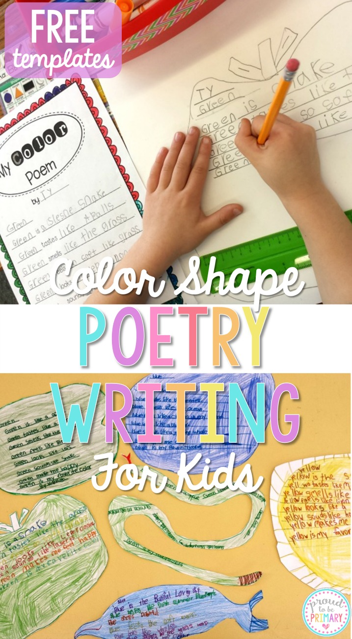 Color shape poetry writing proud to be primary for Poetry templates for kids