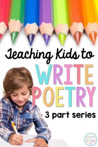 teaching kids to write poetry