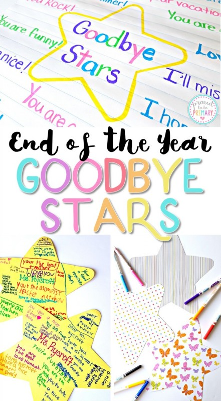 Teachers, are you looking for the perfect student keepsake for the end of the school year? Create something kids will cherish with the end of the year goodbye stars classroom activity! #endoftheyearactivities #endofschool #classroomactivities #classroommanagement #kidwriting