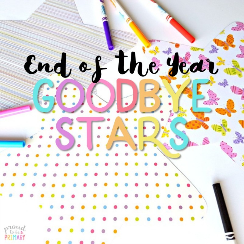 Teachers, are you looking for the perfect student keepsake for the end of the school year? Create something kids will cherish with the end of the year goodbye stars classroom activity!