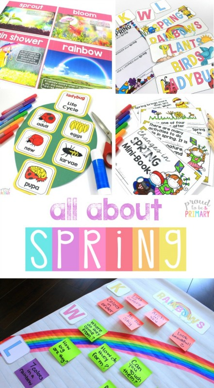 spring-themed activities for the classroom - all about spring unit