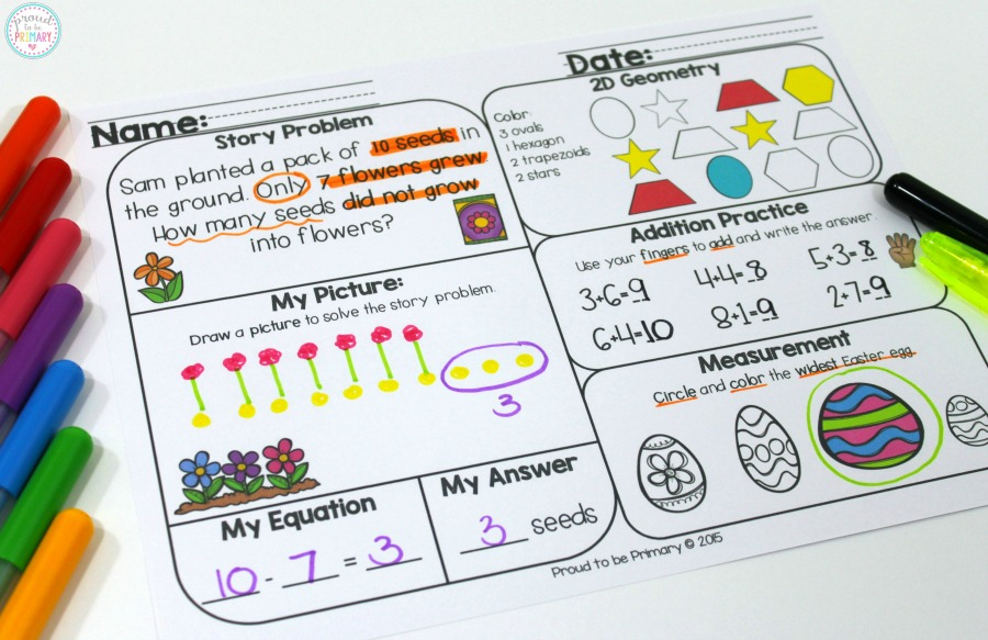 tips for building math fluency - math mats