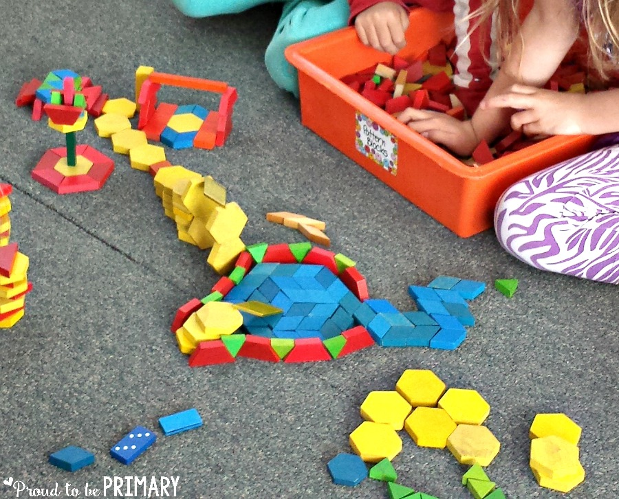 tips for building math fluency - pattern blocks