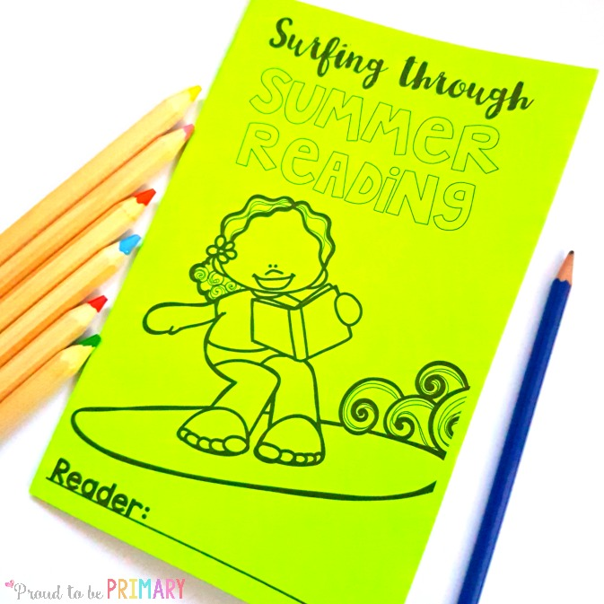summer reading activities for kids - surfing through summer reading log