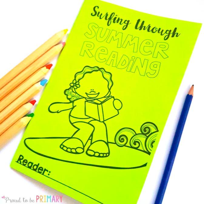 summer reading activities for kids - surfing through summer reading log