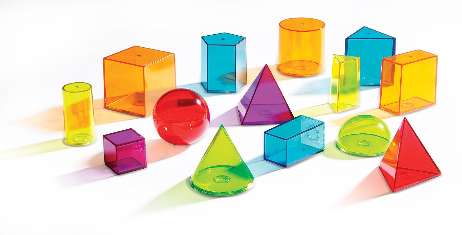 clear geometric solids