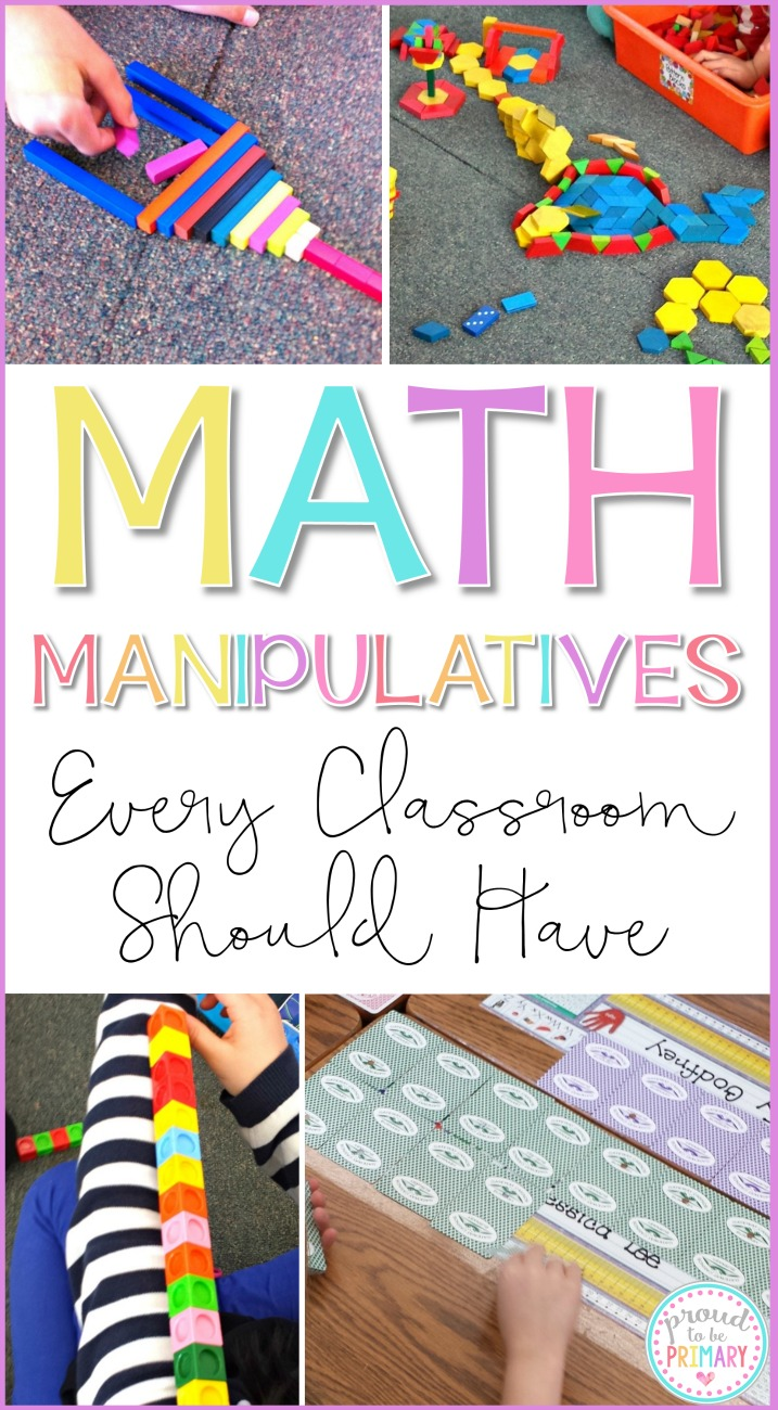 Math manipulatives are great for teachers and students to use during math lessons, activities, and games. Learn about different types, ideas for storage and classroom organization, and where to buy affordable options. #mathforkids #kindergartenmath #firstgrademath #kindergarten #teachersupplies #classroomorganization #mathactivitiesforkids