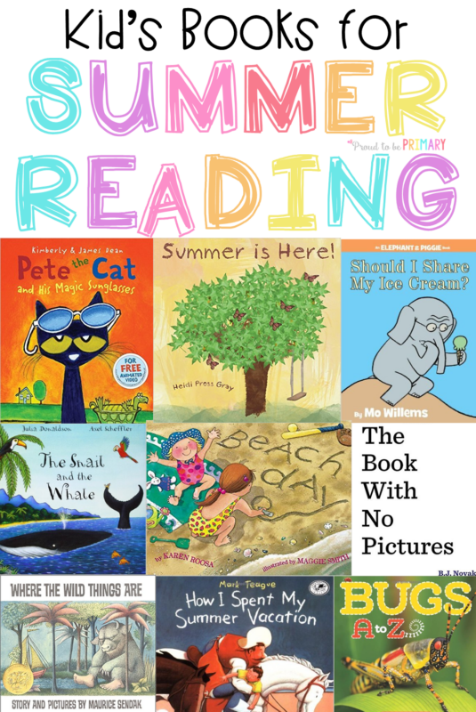 kid's booklist for summer reading activities