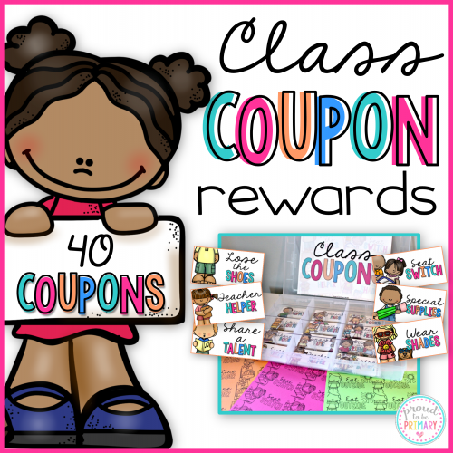 Coupons for Kids Class reward coupons by Proud to be Primary