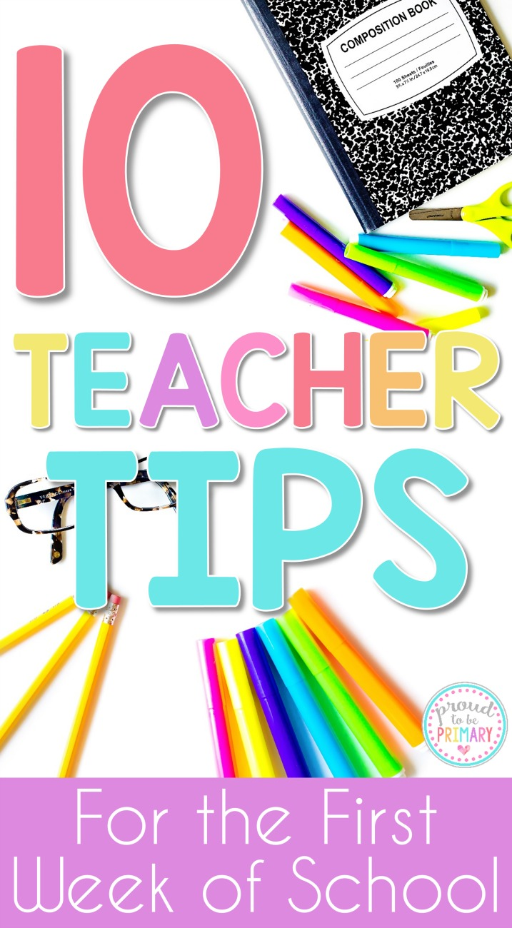 Classroom Ideas Primary ~ Teacher tips for the first week of school proud to be