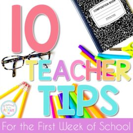 first week of school teacher tips