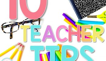 first week of school teacher tips