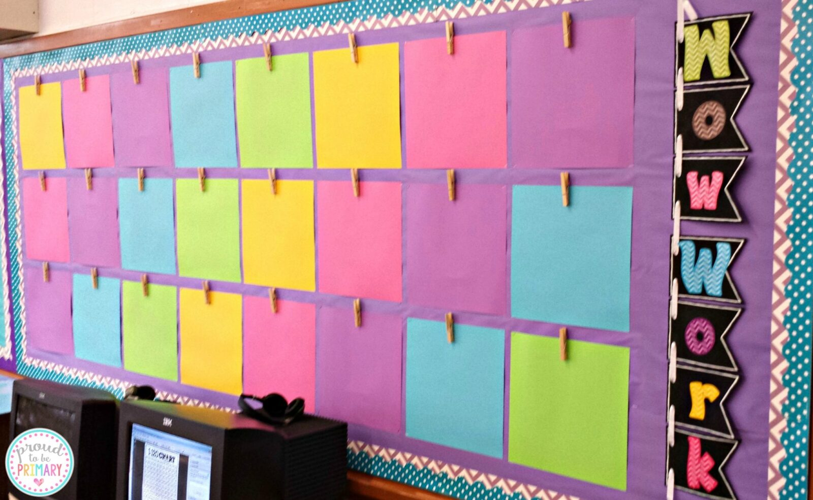 10 teacher tips for the first week of school proud to be for Bulletin board organization
