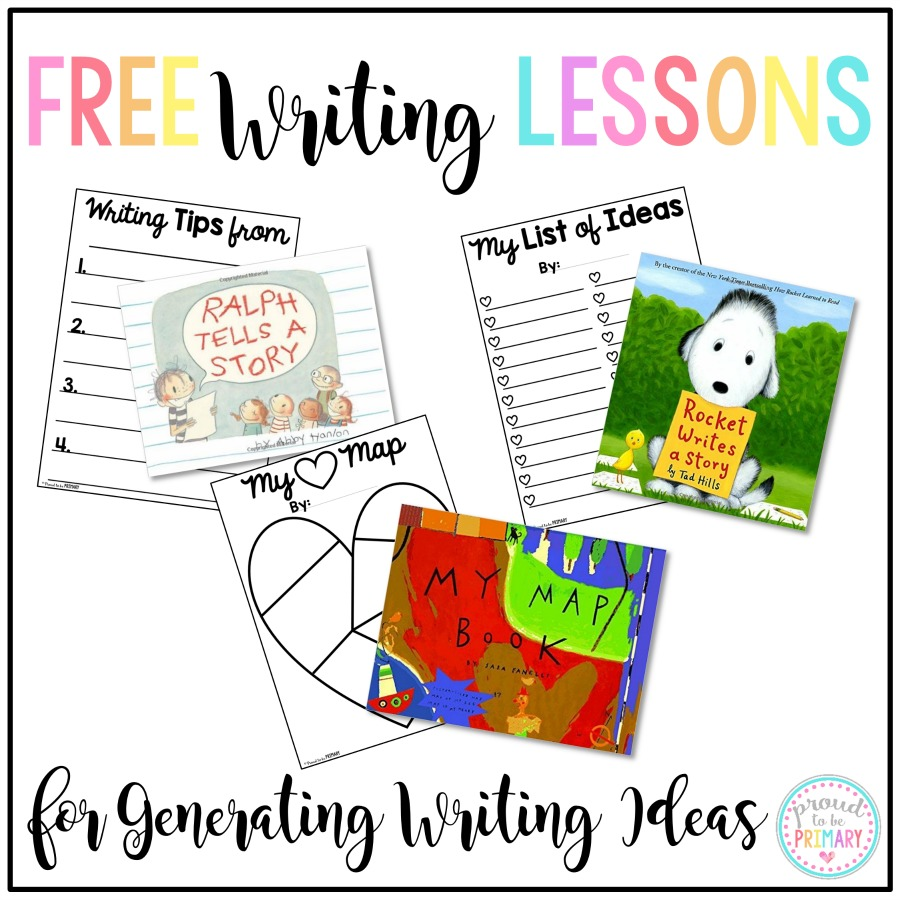Teachers, ever have students struggle with coming up with writing topics? ME TOO! This post includes writing lessons and books for generating ideas. Plus, grab FREE writing templates to help get those ideas down. Perfect for those writer's workshop mini-lessons!