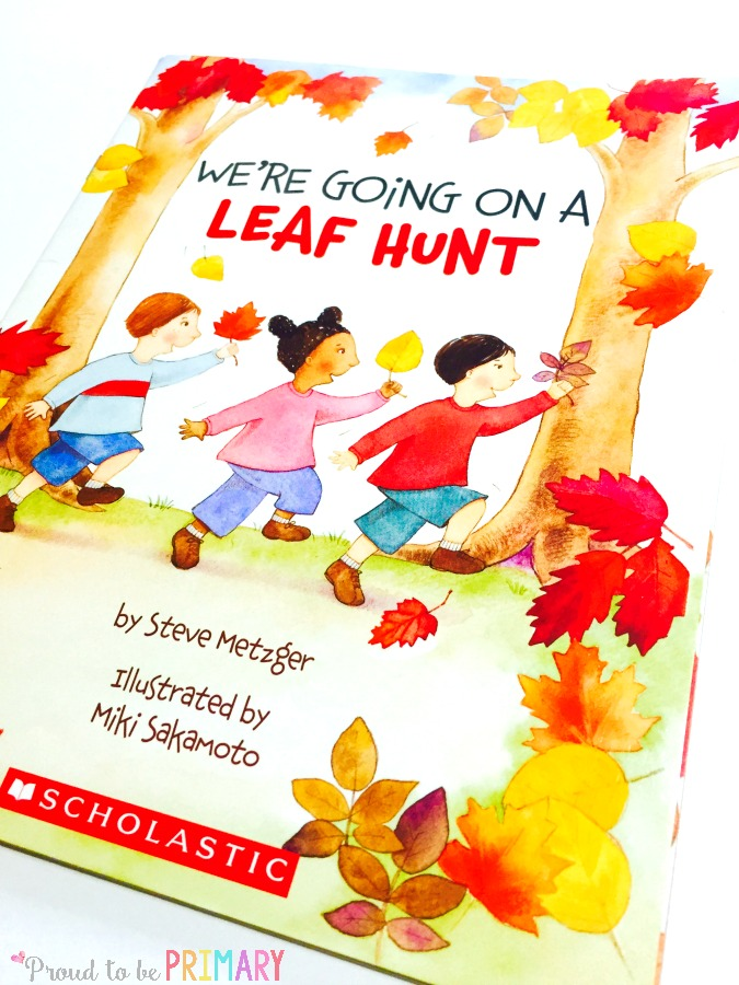 leaf activity for fall learning- we're going on a leaf hunt