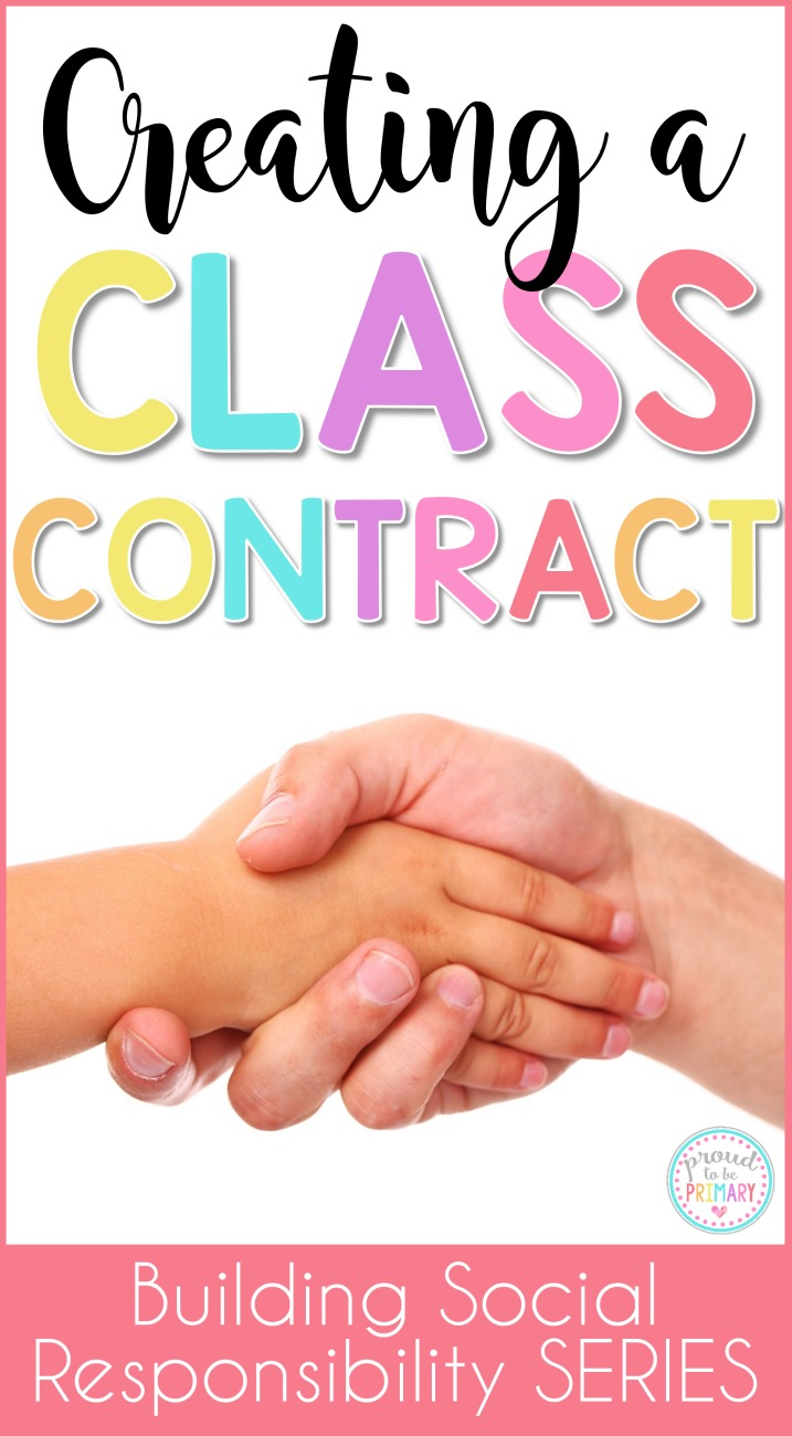 Teachers, are you hoping to help build student social responsibility and encourage good behavior? Creating a classroom contract using children's ideas about what a great classroom should be is the perfect alternative to traditional classroom rules. The anchor chart and FREE printable activity are a MUST for a bulletin board!