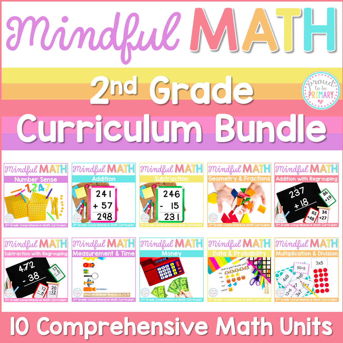 second grade mindful math bundle