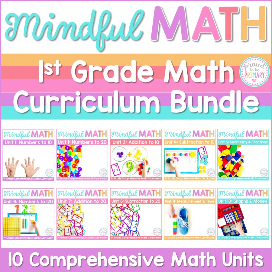 mindful math program first grade curriculum