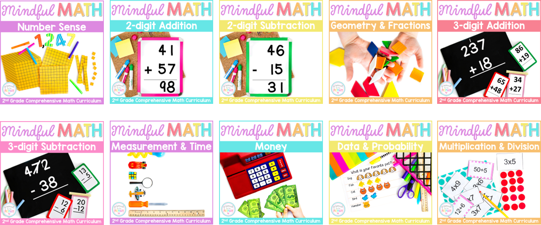 second grade mindful math program 10 math units