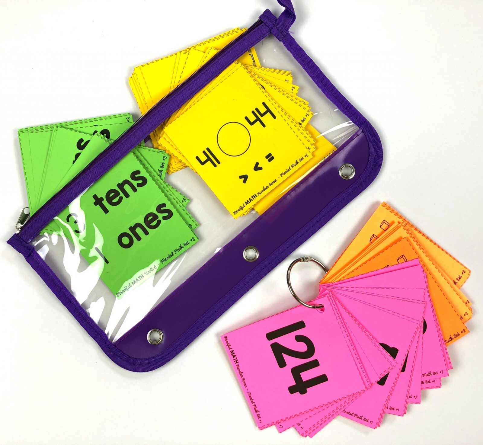 mindful math program second grade mental math flash cards