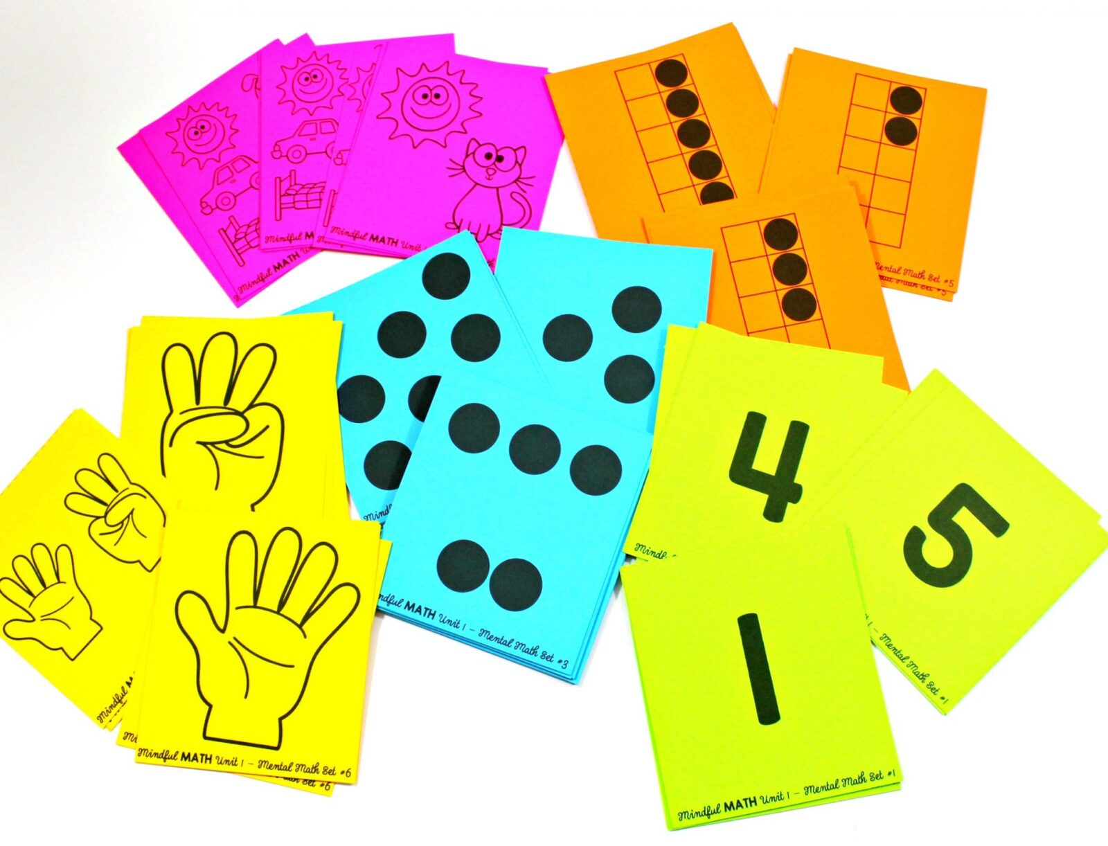 mindful math program - mental math flashcards
