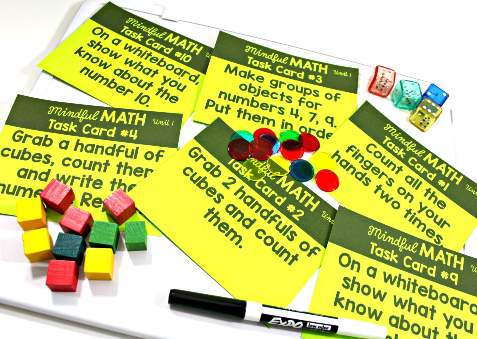 mindful math program task cards