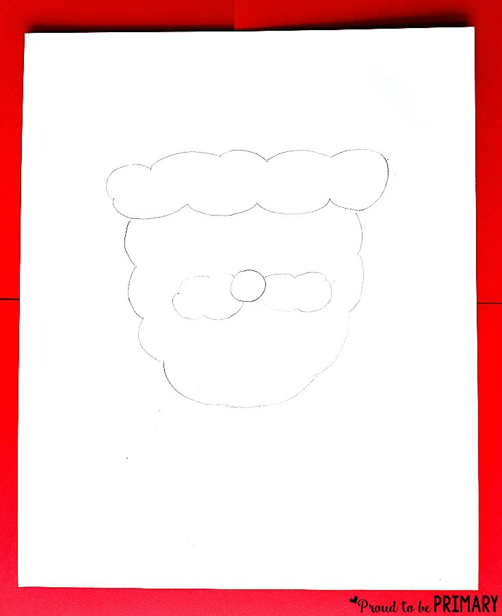 Santa Claus Drawing step 1