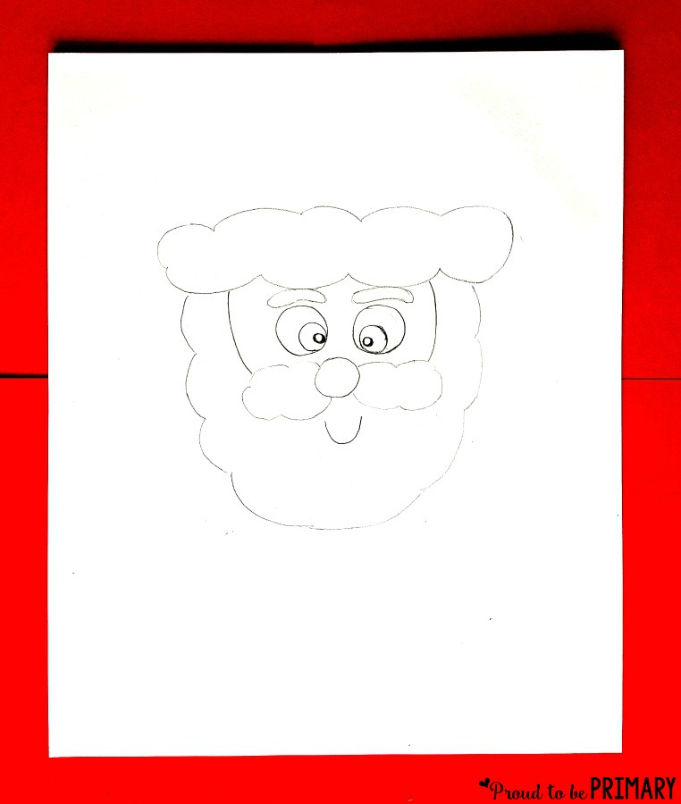 Santa Claus Drawing step 2