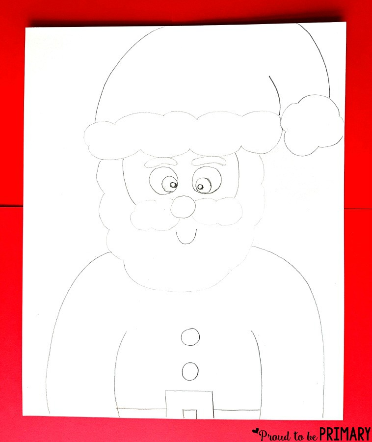 Santa Claus Drawing step 4