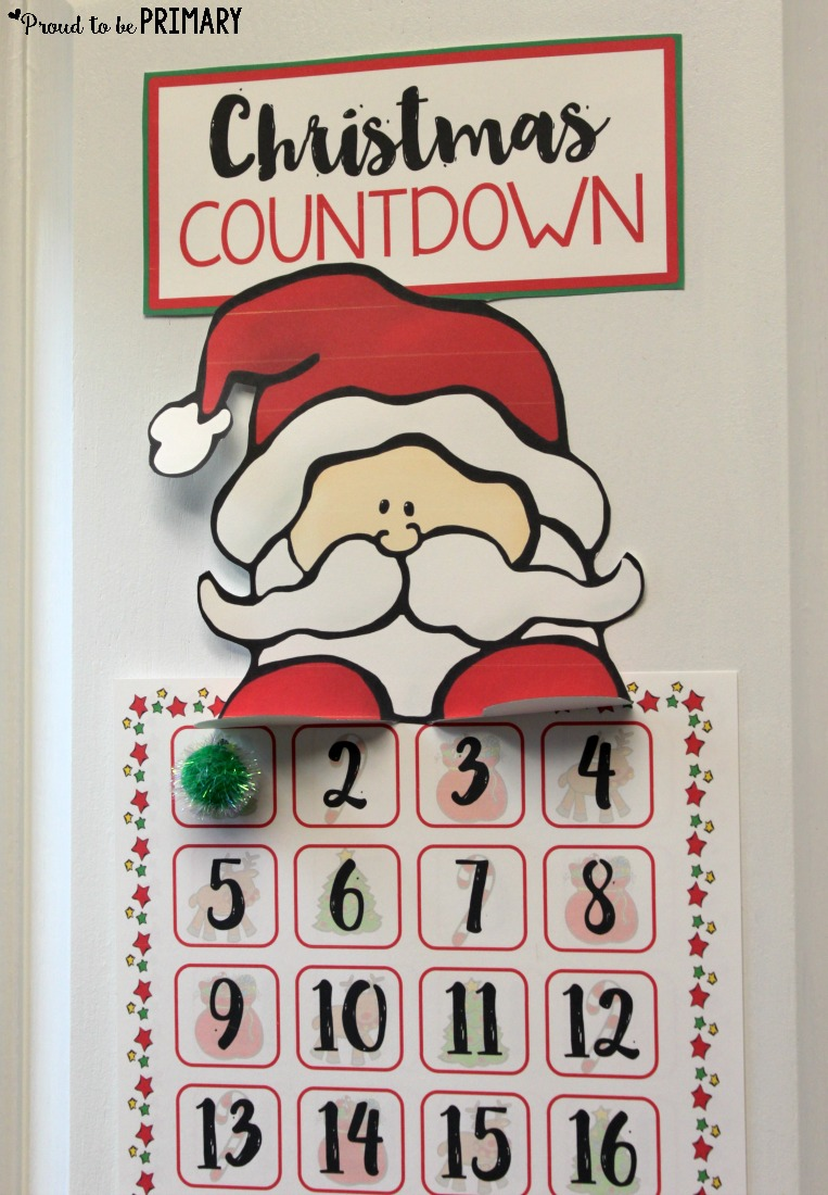 Santa Christmas countdown proud to be primary