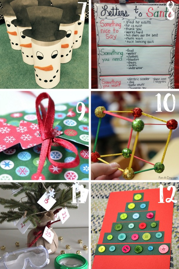 Christmas Classroom Activities: decor and decorations games and activities