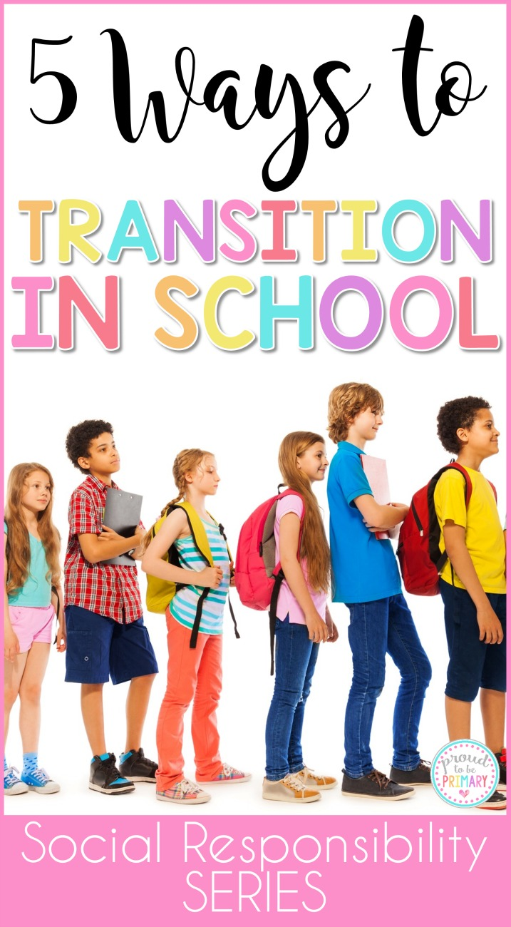 Teachers can help children adapt to changes in their day with these 5 helpful ways to transition in school. Use line up chants, call backs attention grabbers, songs, brain breaks, and more to build classroom management in fun ways!