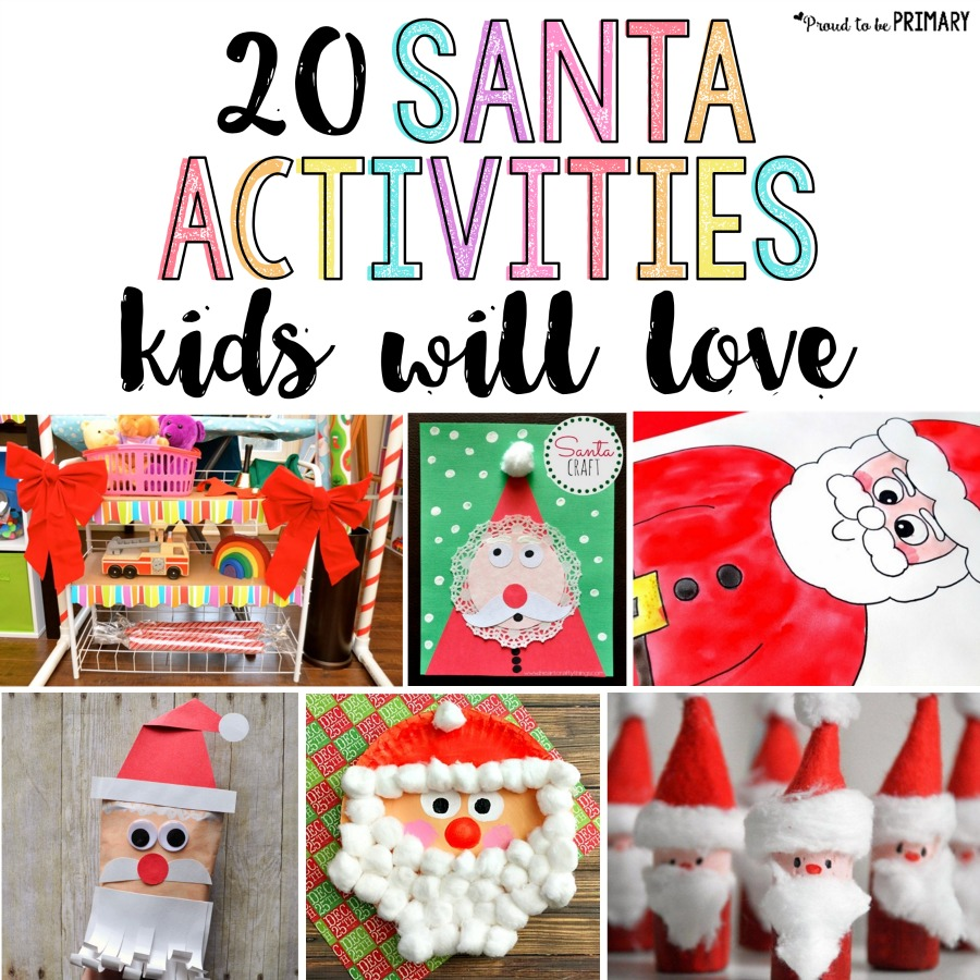 santa crafts for kids