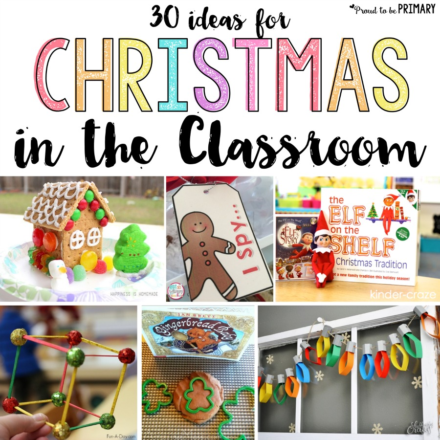 30 of the BEST Christmas in the classroom ideas for teachers. Plan your December with these arts & crafts, games and activities, decorations and cards, gift and book ideas, STEM activities and more! #christmascountdown #christmasactivities #christmasprintable #christmasintheclassroom #christmascrafts #christmasbooks #christmasstem