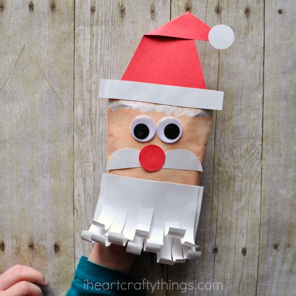 santa envelope puppet i heart crafty things
