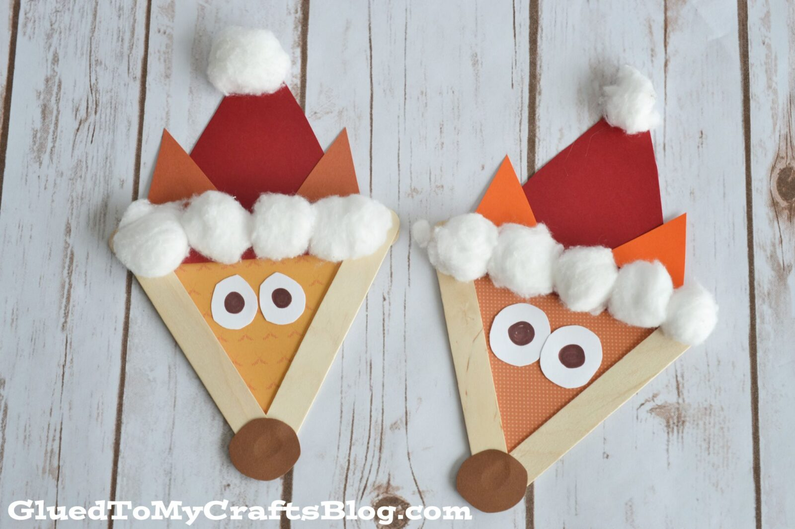 popsicle stick santa fox