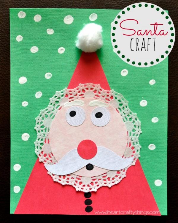 kids santa craft - I heart crafty things