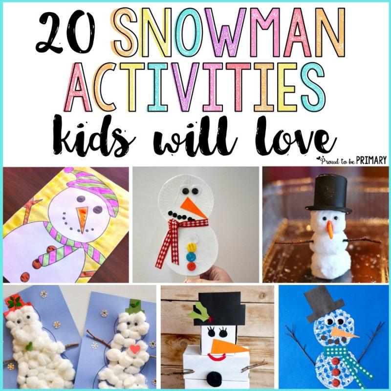 20 Snowman Activities for Kids
