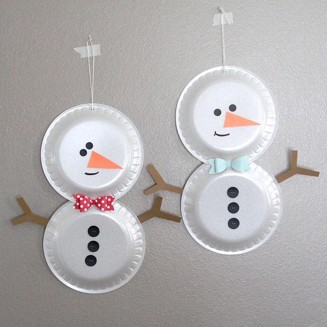It's Always Autumn - Simple Foam Plate Snowman