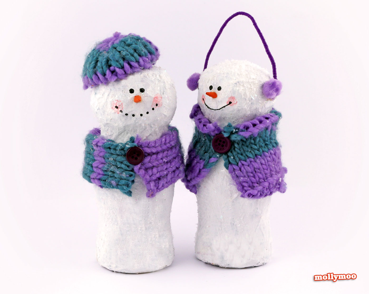 Molly Moo Crafts - Papier Mache Snowman