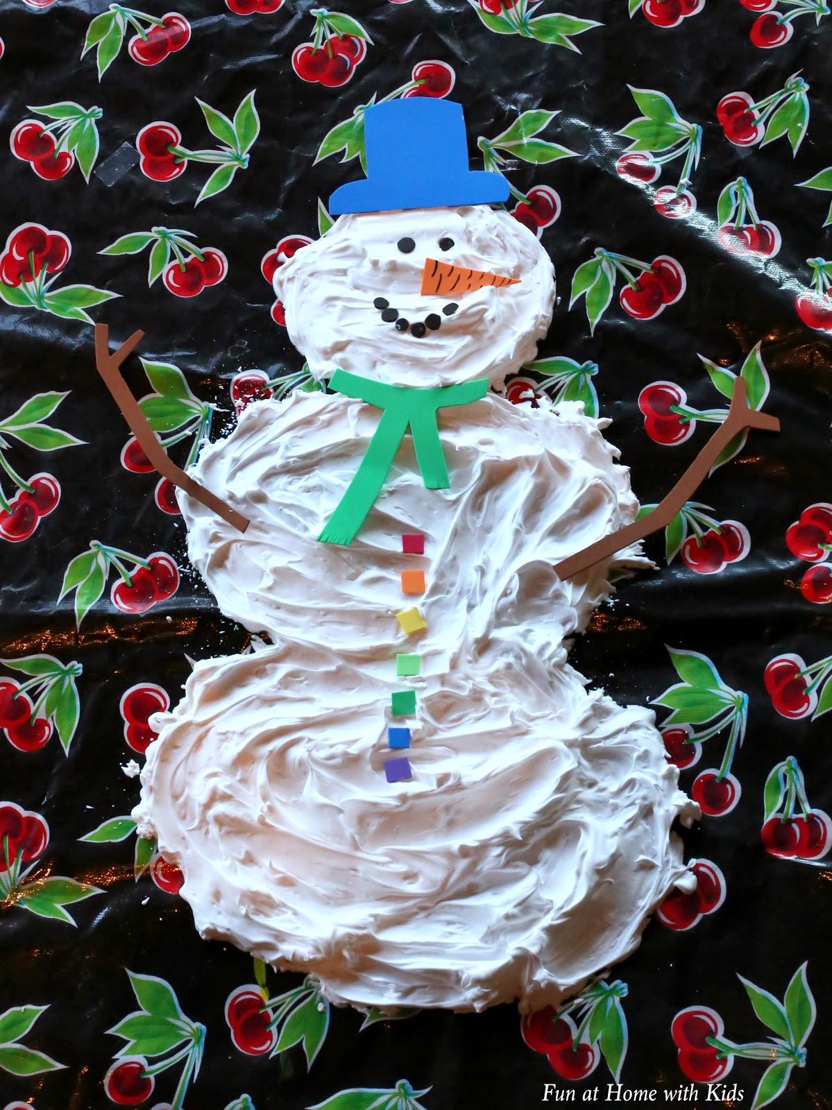 Fun at Home With Kids - Demolish the Snowman - Messy Christmas Sensory Play