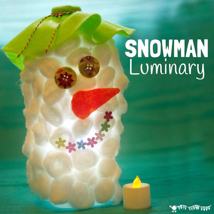 Kids Craft Room - Snowman Luminaries Craft