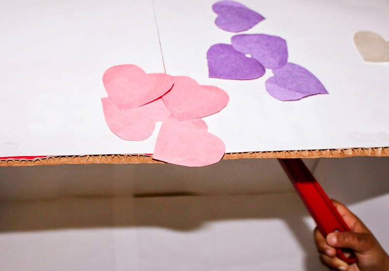 Hands on as We Grow - Valentines Magnet Activity Table