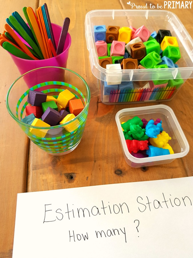 create an estimation station - building number sense to 20