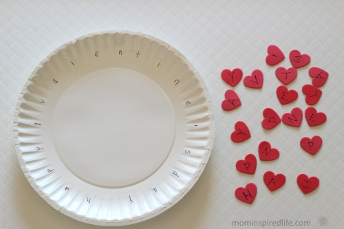 Mom Inspired Life - Valentines Day Wreath Alphabet Activity